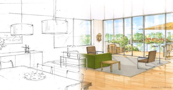 Cursus interieur tekenen perspectief individueel for Interieur ontwerpen